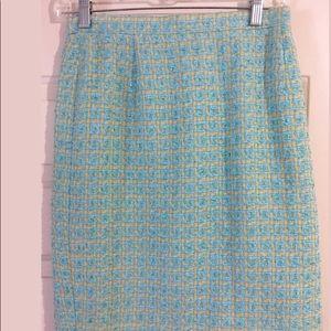 Escada Tweed Pencil Skirt Sz. 4-6